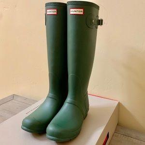 Hunter Rain Boots In Hunter Green